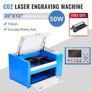 20 X 12 50w Co2 Laser Engraver Engraving Cutting Marking W trocen Rotary Axis