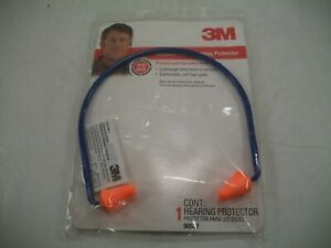 3m Banded Reusable Pvc Ear Plugs Orange 28 Db 1 Pair Oem 90537