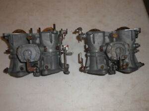 Solex 40phh Twin Side Draft Carburetors Set Of 2 Need Rebuilding As Is Good