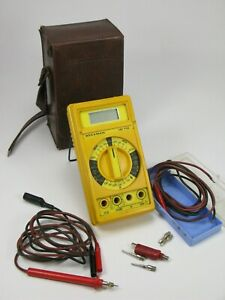 Beckman Industrial Hd110 Digital Multi meter Heavy Duty W case And Probes