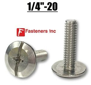 1 4 20 Stainless Steel Phillips Slotted Hurricane Sidewalk Bolts Choose Size
