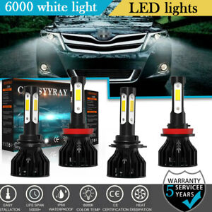 For Toyota Venza 2009 2016 4 side 6000k Led Bulb High Low Beam Headlight Kit