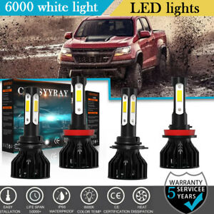 4side Led Headlights Hi low Beam For Chevrolet Colorado 2015 2016 2017 2018 2019