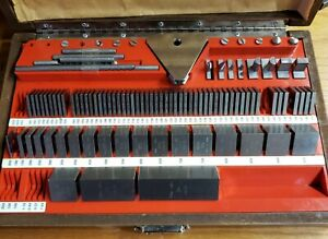 Starrett Webber inches Gage Block Set Nh67