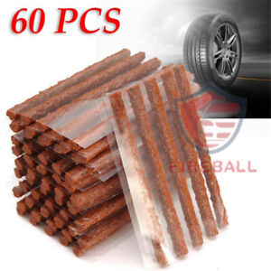 60pcs Tire Repair Plugs Tubeless Seal Patch Tyre Rubber Strips Self Vulcanizing