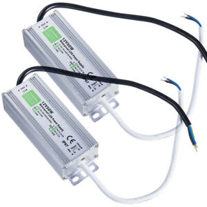 2pcs 50w Waterproof Led Power Supply Driver Transformer 120 To 12 Volt Dc Output