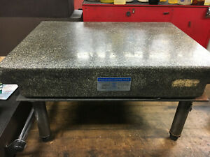 Starrett Rock Of Ages Surface Plate 18 X 24 W leveling Stand