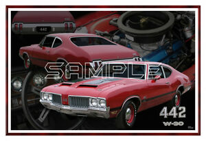1970 70 Olds 442 W30 Poster Print