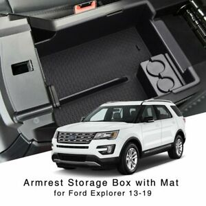 For Ford Explorer 2013 2019 Center Console Armrest Storage Box Holder Glove Tray