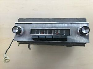 Vintage 1957 Ford Fomoco Car Radio All Original Chrome Face Plate Fairlane