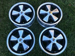 Porsche Detailed Fuchs Wheels With Hearts All 5 5 X 15 Polished Alloys