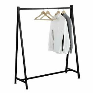 Black Heavy Duty Metal Commercial Garment Rack Retail Clothing Display Stand