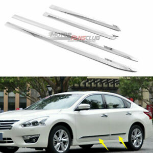 4pcs For Nissan Altima 2013 2018 Chrome Door Body Side Molding Cover Trim