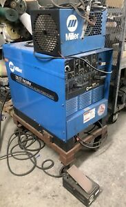 Miller 330st Aircrafter Cc Ac dc Arc Weld Power Source Tig Welder cart