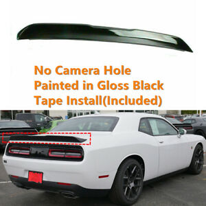 Fit For 2008 2019 Dodge Challenger Rear Trunk Spoiler Lip Shiny Black Painted
