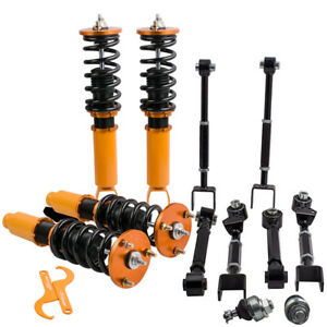 Front Coilover Struts Shocks Suspension 6 X Rear Camber Arms For Honda Accord