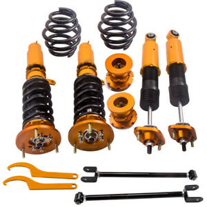 Suspension Kit Spring Coilover Control Arm Ball Joints For Honda Accord 08 12