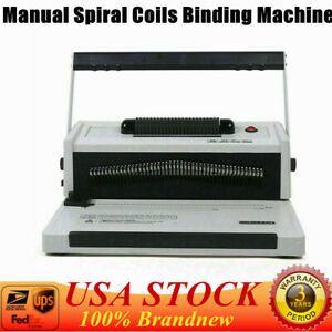 Top s20a Manual Spiral Coil Binding Machine With Electrical Inserter Free Pliers