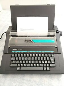 Sharp Pa 3000ii Portable Electric Typewriter Great Working Condition Good Ribbon