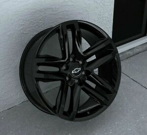 Gloss Black Trail Boss Chevy Silverado Tahoe Truck Wheels Set 20x9