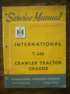 Ih Farmall Mccormick International T340 Crawler Chassis Service Manual