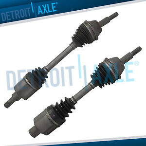 2pc Front Cv Axle For 1996 2007 Ford Taurus Mercury Sable 17 Bolts On Trans Pan