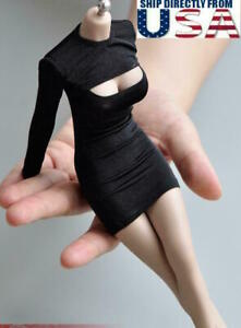 1 6 See Through Black Dress For 12quot; Hot Toys PHICEN KUMIK Female Figure U.S.A. $17.99