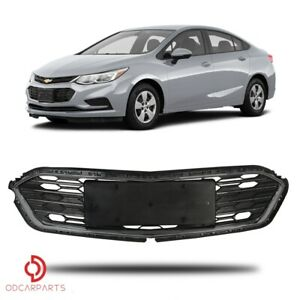 Fits 2016 2017 2018 Chevrolet Cruze Front Bumper Lower Grille Grill Chrome