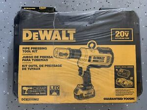 New In Box Dewalt Dce200m2k Pipe Pro Press Copper Crimp Tool Kit