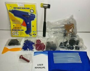 New Auto Body Dent Repair Tool Dent Repair Kit W Glue Gun Puller Free Ship