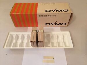 Vintage Dymo Label Tape Rolls Box Lot Of 2 Clear 1 4 X 12