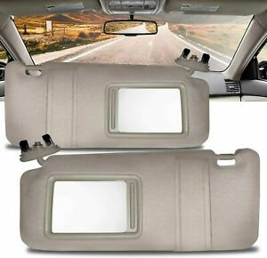 New Lh Amp Rh Windshield Sun Visors Brown Pair Set Of 2 For Toyota Camry 2007 2011 Fits Toyota Camry