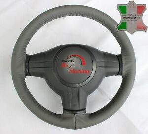 For Acura Integra 89 01 Grey Leather Steering Wheel Cover Grey Stit