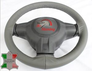 For Acura Integra 86 88 Grey Leather Steering Wheel Cover Grey Stit