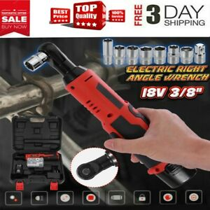 18v Cordless 3 8in Electric Ratchet Wrench Tool Set W Battery Charger Kit Us