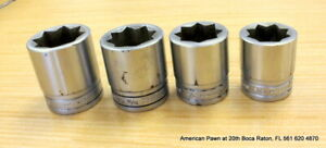 Snap On 1 2 Drive 8 Point Double Square Sockets Sw426 Sw428 Sw430 Sw432