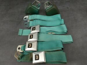 Gm Deluxe Bucket Seatbelt Set 1966 Gs 442 Cutlass Gto Lemans Chevelle Ss