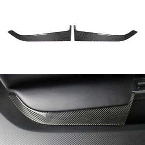 Real Carbon Fiber Interior Accessories Cover Trim Fit For Ford Mustang 2015 2018