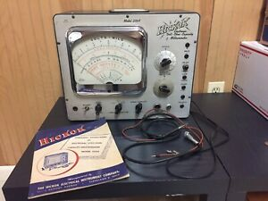 Vintage Hickok 209a Ohmeter Vacuum Tube Tester Works with Manual