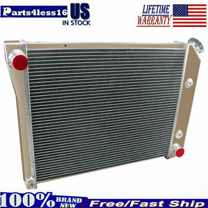 3 Row Aluminum Radiator For 1968 1974 Chevrolet Nova 1974 1981 Chevy Camaro 5 7l