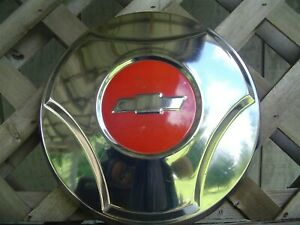One Vintage 1964 1965 C 10 Chevy Chevrolet Pickup Truck Hubcap Wheel Cover