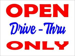 1 White 18 X 24 Drive thru Sign vinyl Letters indoor outdoor Home business
