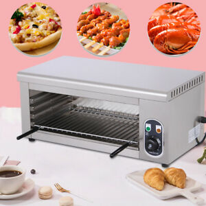 2kw Cheese Melting Machine Electric Salamander Broiler Bbq Gril Countertop Tool