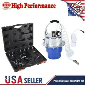 Portable Pneumatic Air Pressure Kit Brake And Clutch Bleeder Valve System Kit Us