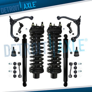 12pc Front Strut Rear Shock Upper Control Arm Ball Joints For 05 07 Jeep Liberty