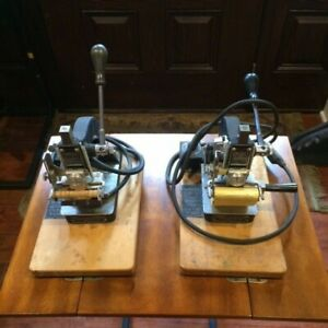 2 Vintage Kingsley Letter Type Set Old Stock Hot Foil Stamping Machines