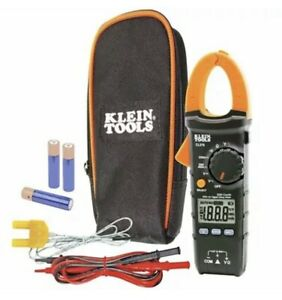 Brand New Klein Tools 400 Amp Ac Auto ranging Digital Clamp Meter W Temp Cl210