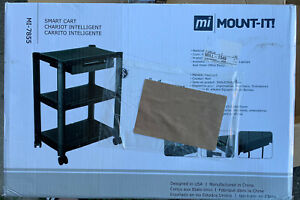 Mount it Printer Stand With Wheels And Drawer Rolling Printer Cart 22 Lbs Cap