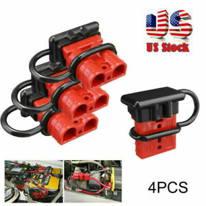 4x 12v Auto Car Battery Quick Disconnect Kit Plug Winch Connector 50a 6 8 12awg