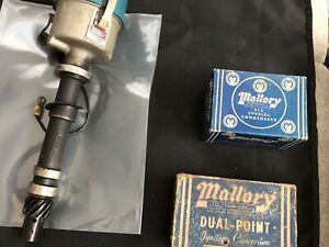 Used Mallory 6 Cylinder Dual Point Distributor 2548201 And Extras